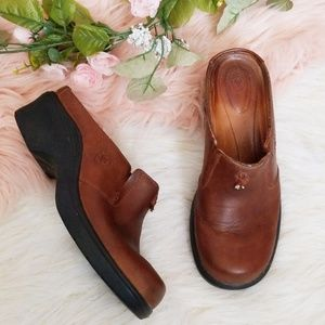Ariat Brown Leather Clogs